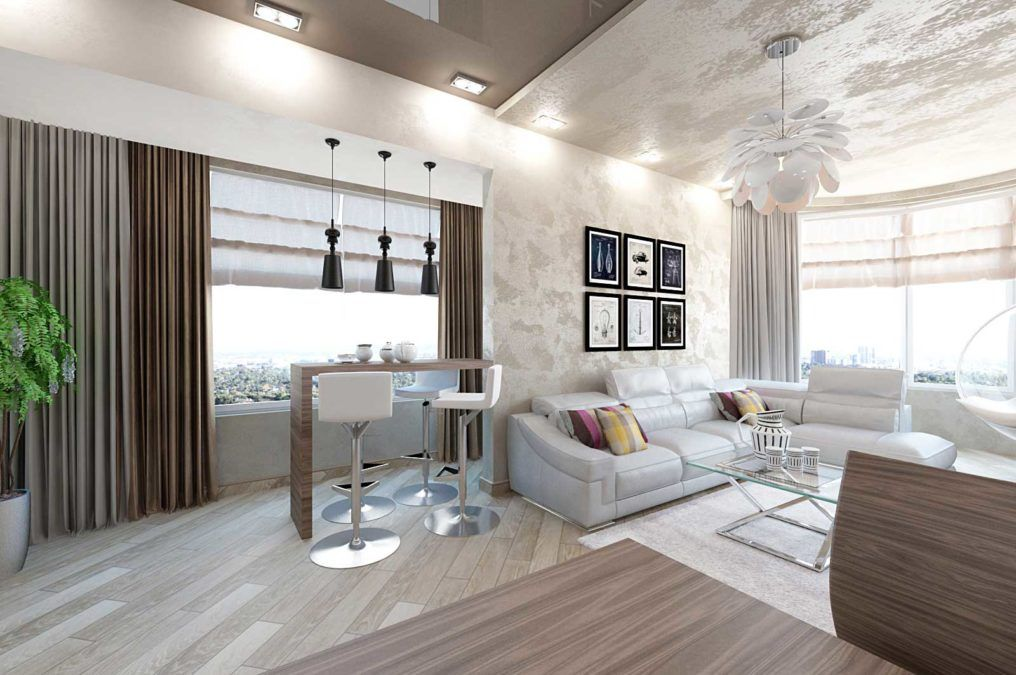 """Квартира для большой семьи в ЖК """"Миллениум Тауэр"""", 97 кв.м."""