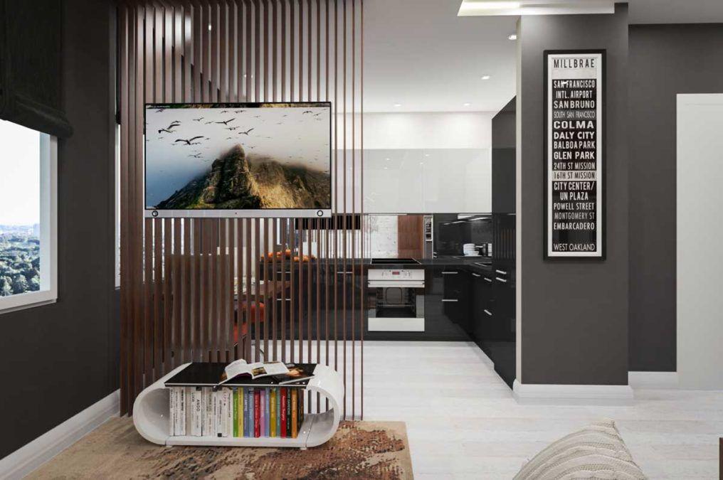 Современное прочтение малогабаритной квартиры (24 кв.м.)
