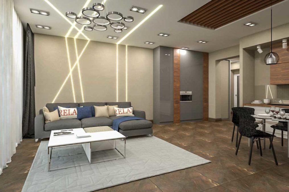 Дизайн квартиры в ЖК Идеал Хаус - 56 кв.м.