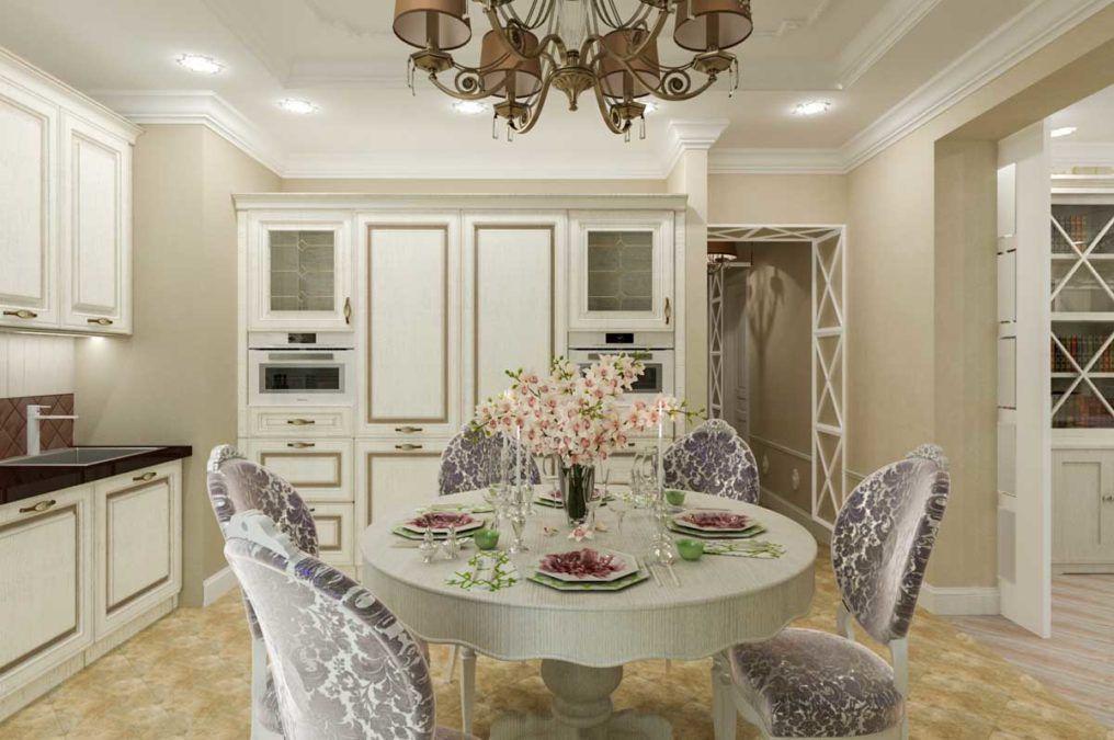 Квартира в стиле прованс для большой семьи