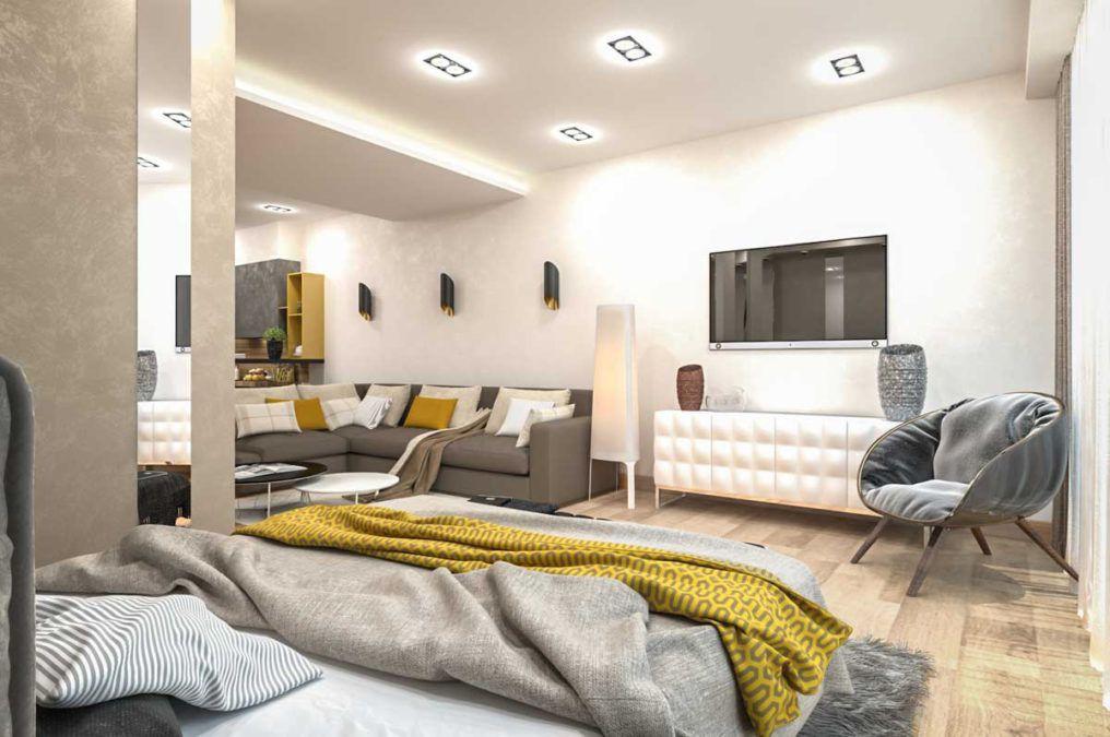 Апартаменты в стиле контемпорари