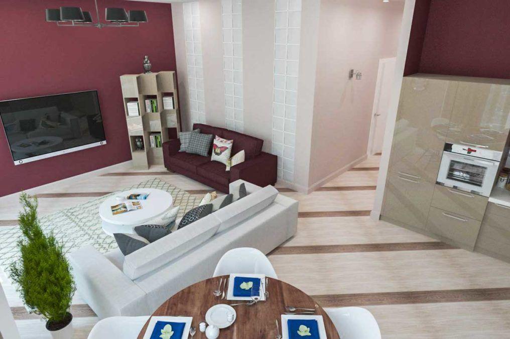 Яркие краски для апартаментов в ЖК Актер Гэлакси